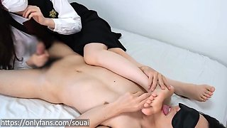 After Handjob While Letting Him Lick My Bare Feet Raw Sex Japanese Amateur Couple