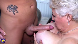 Chubby granny still wants an occasional casual fuck and mostly does it with younger guys