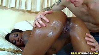 Cody Sky gets deep throat by ebony slut Toni Marie