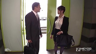 Asian Office Lady uncensored greate pussy fuck