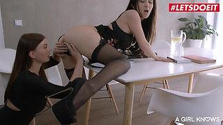 AGirlKnows - Amazing Lesbian Sex With Darcia Lee & Lucy Li