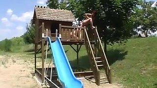 Amateur milf outdoor fun