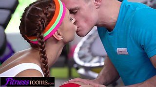 Fitness rooms sexy gym latina and czech babes fuck their tra