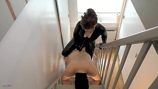 Pegging on the stairs
