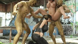 3D Lara Croft Ruined by Brutal Orcs!