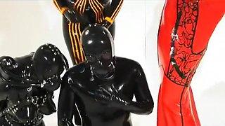 Fabulous amateur Group Sex, Latex adult clip
