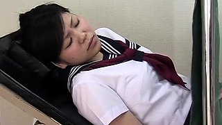 Sweet Oriental schoolgirl has a horny guy plowing her cunt