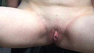 Barefaced bimbo is screwed by a sextoy