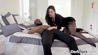 Lea Lexis enjoys interracial anal sex