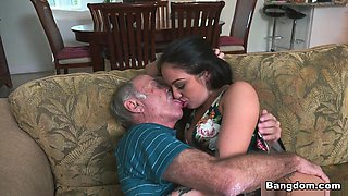 Horny pornstar Aria Rose in Best Oldie, Facial adult video