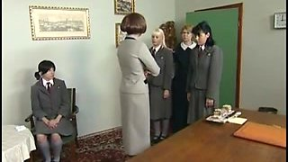 Czech legal-age teenagers getting spanked