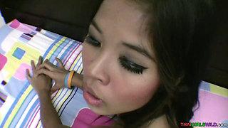 Shooting sperm inside a pretty Asian teen