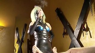 Amazing homemade BDSM, Smoking xxx clip