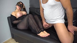 Clean all cum of off feet blonde Jaily 4k