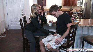 Captivating milf Julia Ann seduces her her stepson and enjoys wallowing his cock