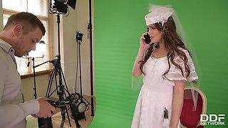Bride Rides Photographers Big Male Stick