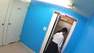 Teen students urinating