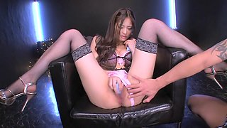 Amazing Japanese chick in Hottest Stockings, HD JAV clip