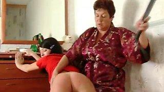Spanking mom