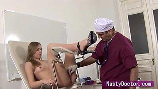 petite russian model fucked on gyno exam