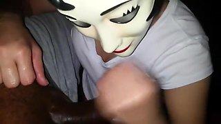 33. Handjob by my Emo girl cumming on her face