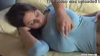 sleeping sis tits