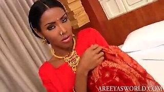 lovely shemale areeya in saree