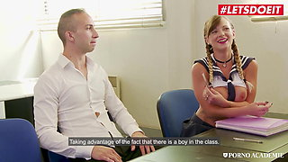 LETSDOEIT, Hot College Teen Tiffany Leiddi In A Threeway With Teachers