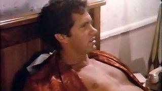 Beautiful classic brunette milf in black lingerie loves sex