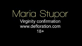 Sexy virgin Maria on casting at defloration new studio