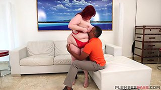 BBW gets her pussy destroyed by a black cock