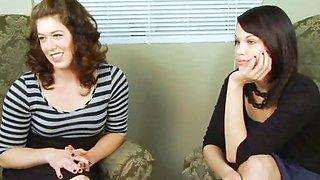 Two girls spanking