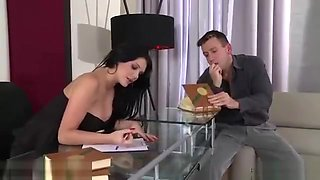 Euro vixens Emma Leigh and Anissa Kate share a fat dick at the office