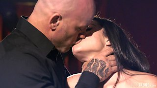 Erotic mouth fucking with a massive dick for beautiful Eva Love