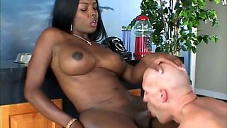 Raunchy shemale banged by guy