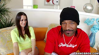 Horny Brooklyn Jade makes a black cock disappear in her pussy