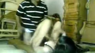 Long-haired Indian gal enjoys multiposition sex with an older man
