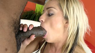 Cutie wants a giant black dick into her tight slits