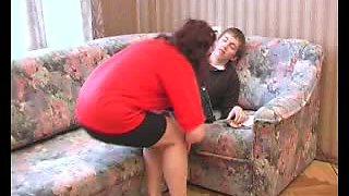 Aunt caught her guy for masturbating