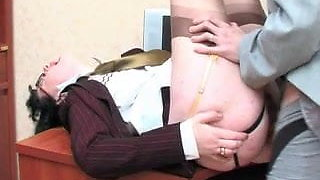 Office quicky with anal secretary