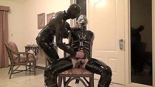 Incredible homemade Latex, BDSM sex scene