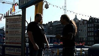 Real amsterdam prostitute swallows tourist load