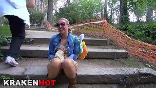 Funny Girl Outdoor, Public Flashing