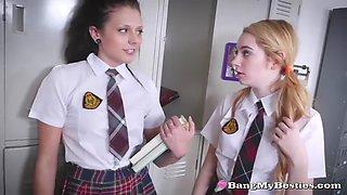 bad teens seduce sexy proctor abby lee brazil for lesbo fun