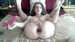 EXTREME anal gaping prolapse rosebud