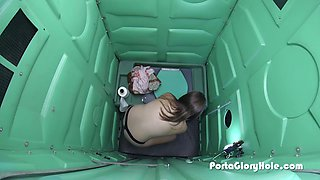 Porta Gloryhole 18 and fun and getting full of cum