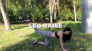Carla Pons in Leg Raises - ButtFormation