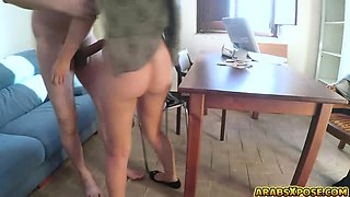 Jobless Arab got hired and fuck by boss with big cock
