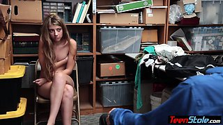 Notorious teen shoplifter got caught and punish fucked