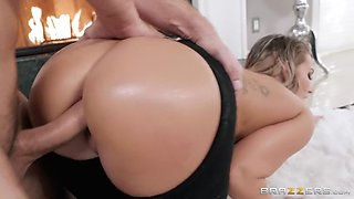 cali carter gets assfucked doggystyle on the floor